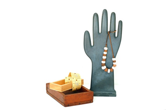 Vintage Black Hand Mold or Jewelry Display