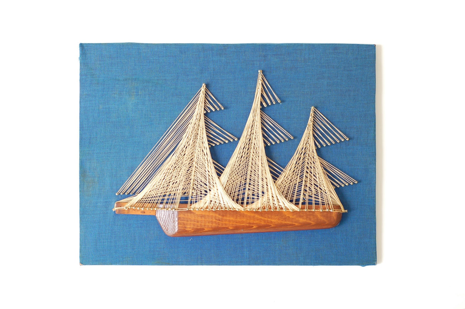Nautical Ship Nail & String Art by Surfaced on Etsy