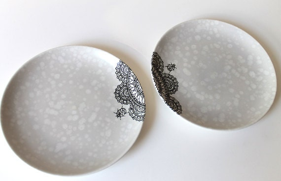 Lacey Ladybird plates