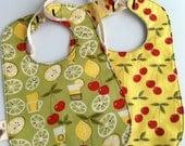 Baby Bibs - Set of 2 - Lemonade, Cherry, Green and Yellow