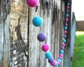 Girls Nursery Felt Ball Garland, Pom Pom Garland, Nursery Decor, Bunting Banner, Party Decor, Baby Shower