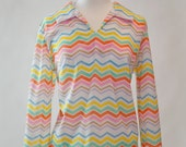 vintage chevron patterned shirt