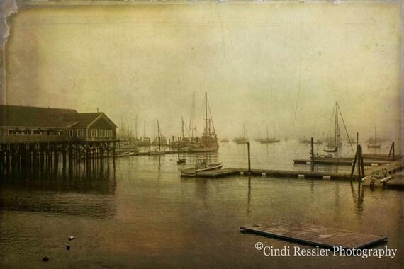 Photo, Rockland Harbor, Photography, Maine, Landscape, Foggy, Fine Art, Beach Decor, Housewarming Gift, Home Decor, Office Decor, Wall Art