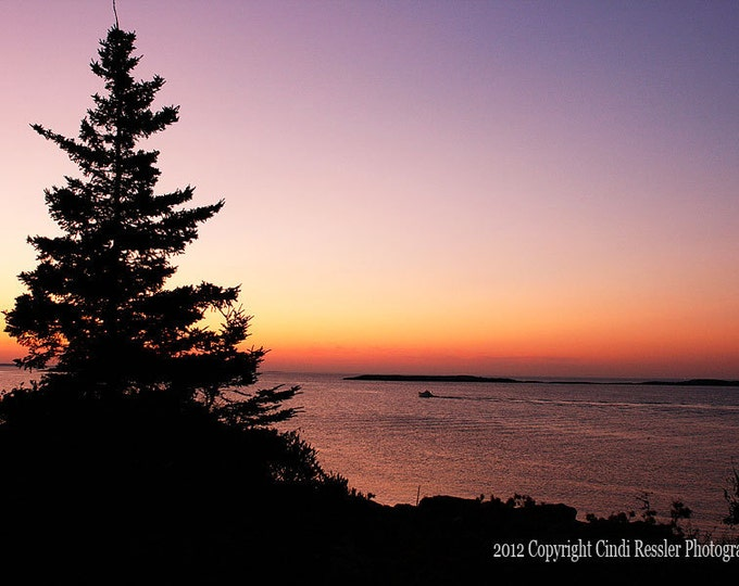 Sunrise on the Atlantic, Fine Art Photography, Maine Photography, Landscape Photography