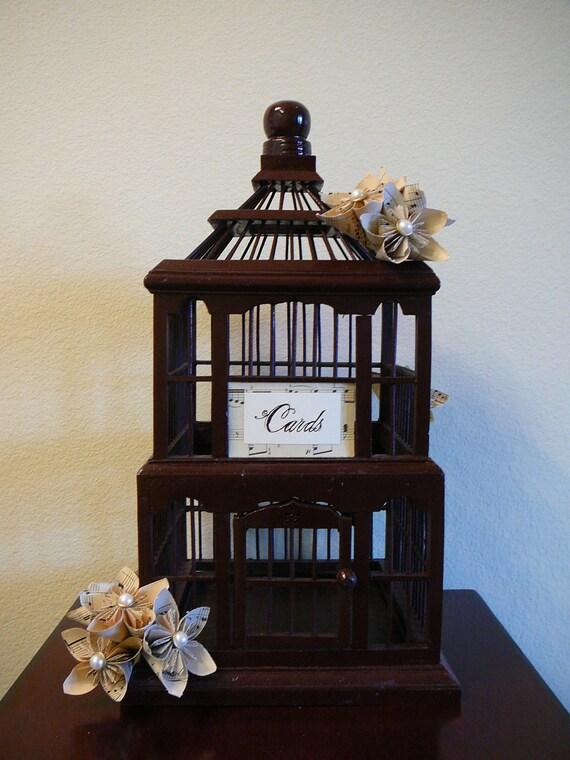 Birdcage - Wedding, Card Holder