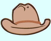 Cowboy Hat Front View  Applique Embroidery Design,  4 sizes (Great for  hooded towels and blankets) INSTANT DOWNLOAD