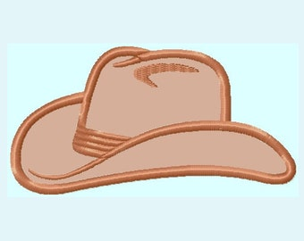 Cowboy Hat APPLIQUE Embroidery Design INSTANT DOWNLOAD