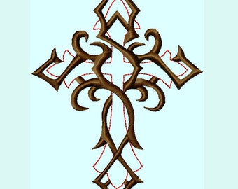 Fancy Cross Embroidery Designs   INSTANT DOWNLOAD