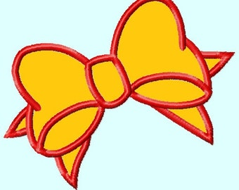 Bow Applique Embroidery Design 3 sizes   INSTANT DOWNLOAD