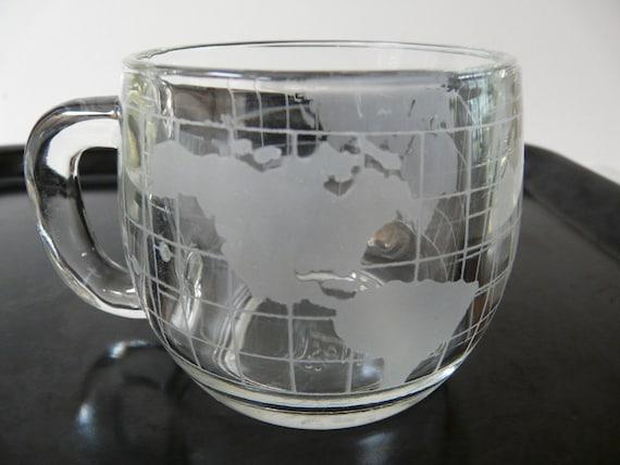 Nestle, Nescafe mugs, globe, vintage, retro set of 6