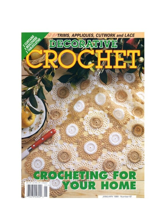 Decorative Crochet Pattern Magazine Number 67 January 1999, Cutwork, Curtains, Bedsreads, Lace, Tablecloths