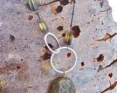Pyrite Delicious Necklace with smokey/lemon topaz