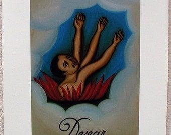 Desear, Desire, To Want, Loteria Art Print