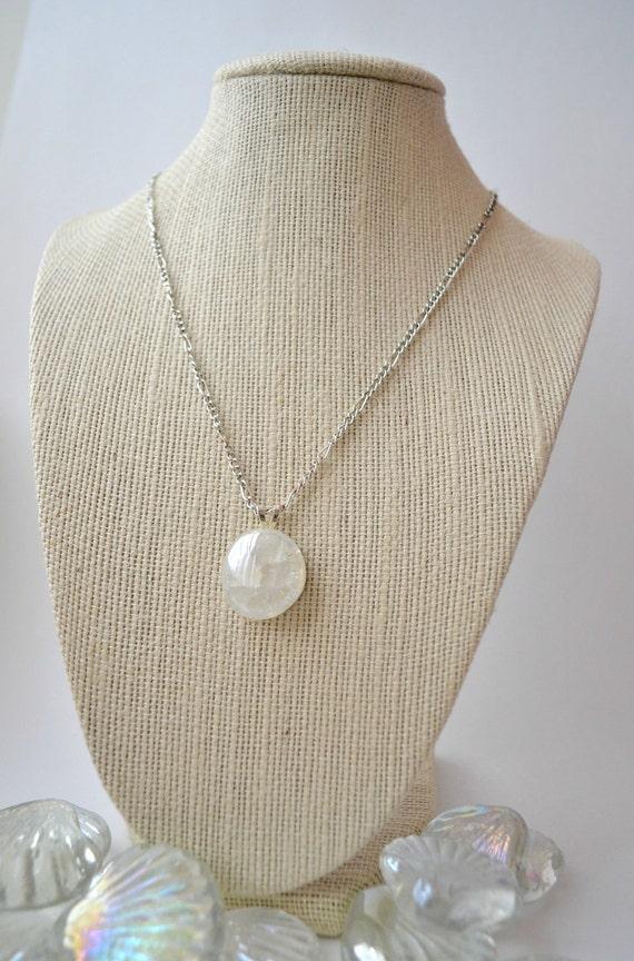 Crackled Fried Glass Necklace