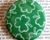"2.25"" pinback BUTTON of 3 Leaf Clover St. Patricks Day"
