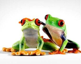 Buddies, Frog with Figurine, Best Friends, Friend Art
