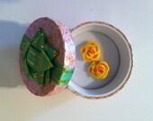 Handmade Clay Rose Earrings- Sunburst