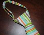 Little Boy Tie - Green, Blue, Brown & Orange