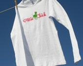"""Pittie Chick """"Pit in Pearls"""" Fitted Long Sleeve Tshirt"""