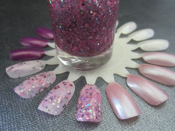 She Likes to Party- Pink, Purple and Blue Glitter Nail Polish
