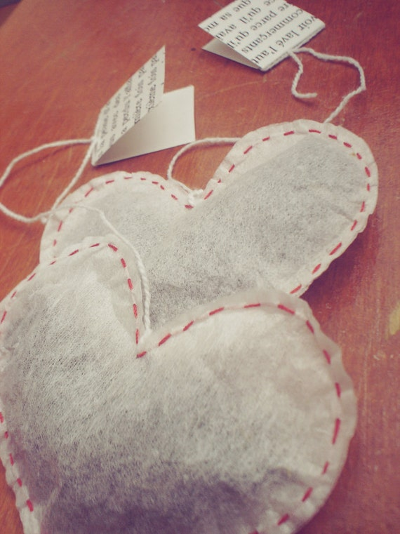 heart shaped tea bags - jasmine - set of four