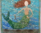 Mermaid with Sea Horse and Starfish