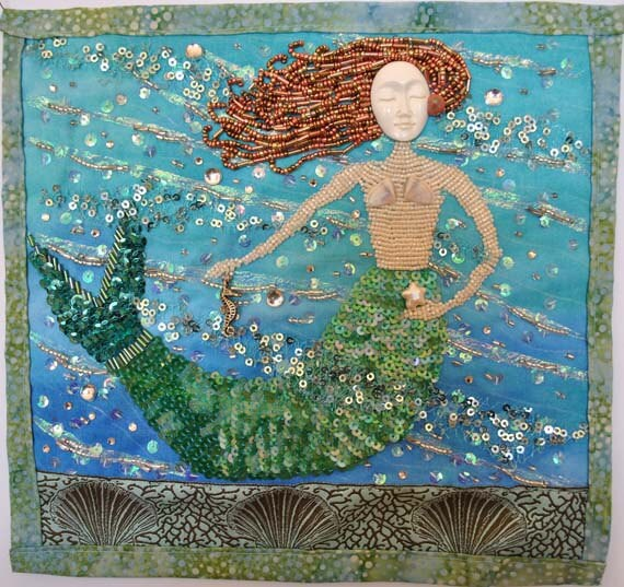 Mermaid with Sea Horse and Starfish