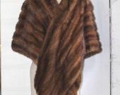 RESERVED Vintage fur stole 1960s