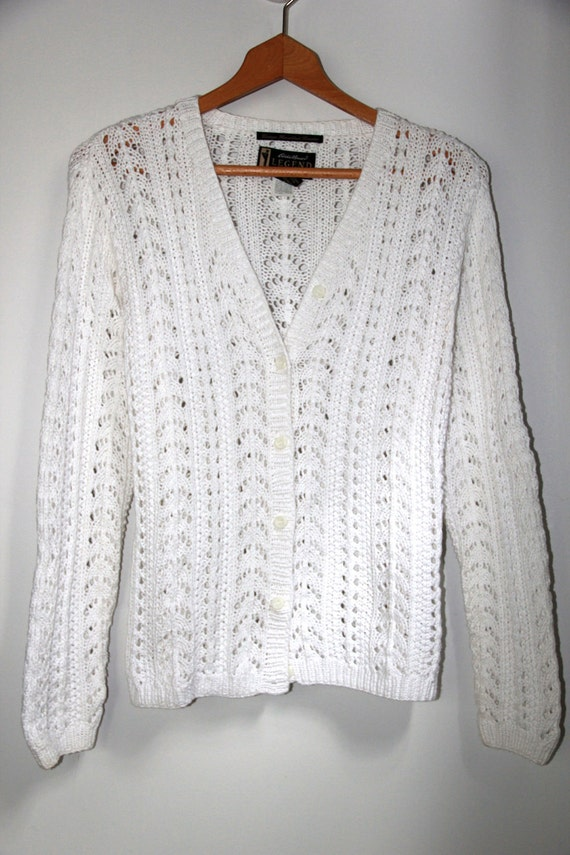White Cotton Sweater