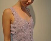 Lavender paisley detail waist coat Size XS - Small