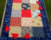 Patriotic Patches Quilted Table Runner
