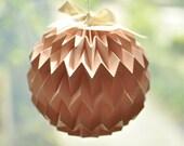 "Hanging decorative folded paper ""bubble"" ball - mini PINK"