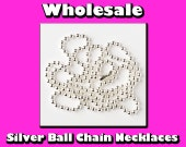 25 Ball Chain Necklaces - Wholesale - Silver Plated - Bottle Caps, Glass Tile Pendant, Scrabble Tiles, Dog Tag Necklace and Jewelry