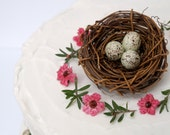 Nest Cake Topper for your Wedding Cake, Vine Nest with Pale Blue Easter Eggs, Woodland, Rustic, Country, Spring