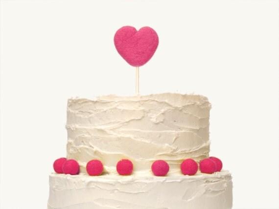 CUSTOM ORDER - for Kristy - Heart Cake Topper