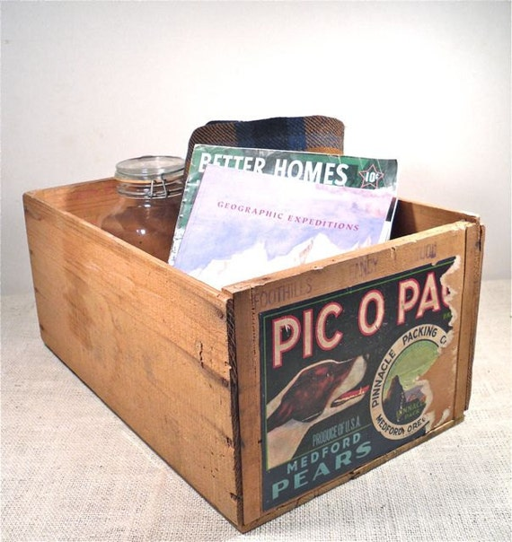 Vintage Wood Crate - Large Shipping Crate - Industrial Storage