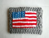 American Flag Coffee Cup Cozy on Gray
