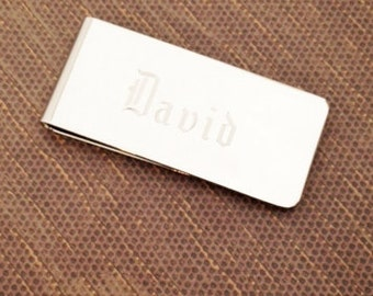 Personalized Money Clip Gift for Men Groomsman Father Groom