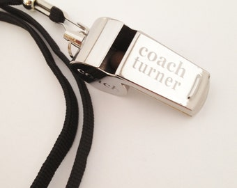Personalized Whistle Engraved Coaches Gift