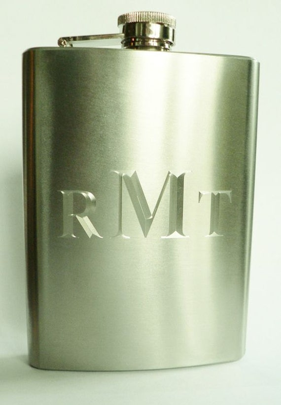 Monogrammed Flask for Fun Present Gifts for Him Under 20