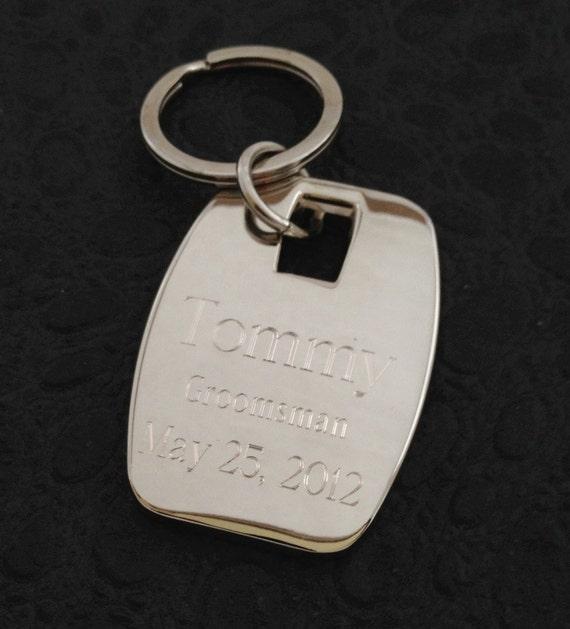 Puffy Personalized Key Chain Bridesmaid Groomsman Gift