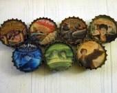 Harry Potter Books Bottle Cap Magnets