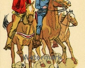 Digital Download, Supplies, Scrapbooking, Reproduction, Vintage - Cowboy Posse