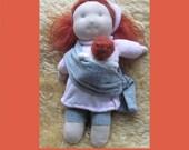 Red-head Baby-wearing Waldorf Doll