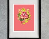 8x10 Flower Print - Pink