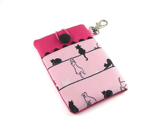 Black cats  on a pink background -  iPhone, BlackBerry, HTC Case/Sleeve/ Cover/ Pouch