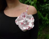 Exquisite satin hair flower clip