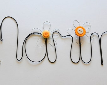 Custom Made Personalized Wire Word or Name - Citrus