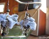 Denim Olive Earrings Handmade Bead Earrings