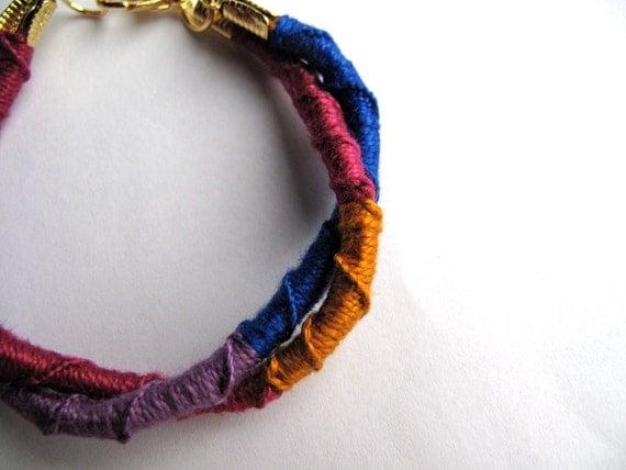 5 Dollar Multicolored Macrame Bracelet Fiber Leather Wrap Bracelet Perfect Gift Folk Jewelry